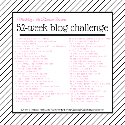 #MFRWauthor Blog Challenge Week1 Theme: A Few of my Favorite Things