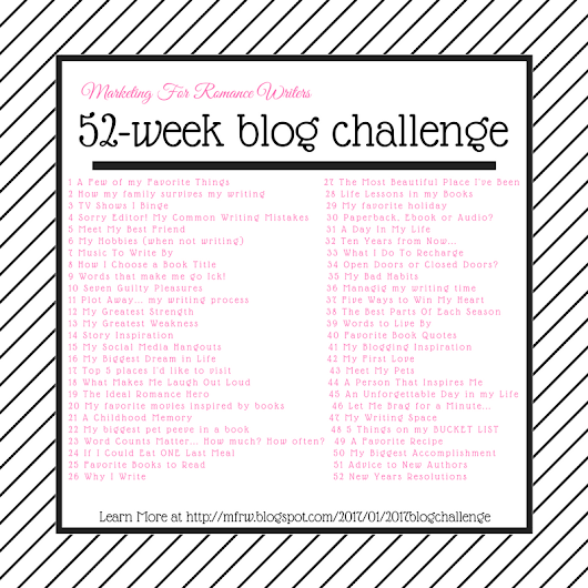 JOIN The 2017 #MFRWauthor 52-Week Blog Challenge!