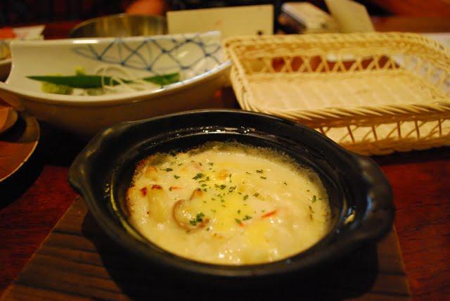 Gratin. Crab Kani Doraku Douraku restaurant Tokyo. Tokyo Consult. TokyoConsult