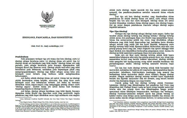 Ideologi, Pancasila dan Konstitusi Negara Republik Indonesia
