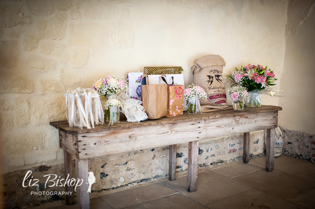 rustic country vintage gift table