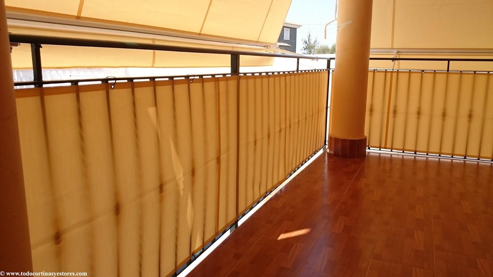 Decoracion interior cortinas verticales estores - Tapar barandilla balcon ...