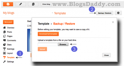 How To Upload Template In New Blogger Interface?