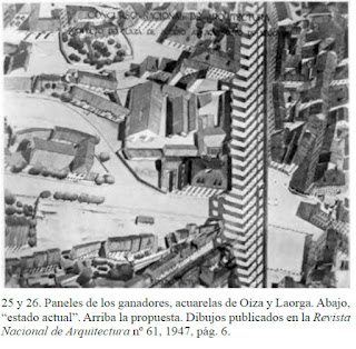 Proyecto de Plaza de Acceso al Acueducto de Segovia    Arquitectos: Francisco Javier Sáenz de Oiza y Luis Laorga  Año: 1946