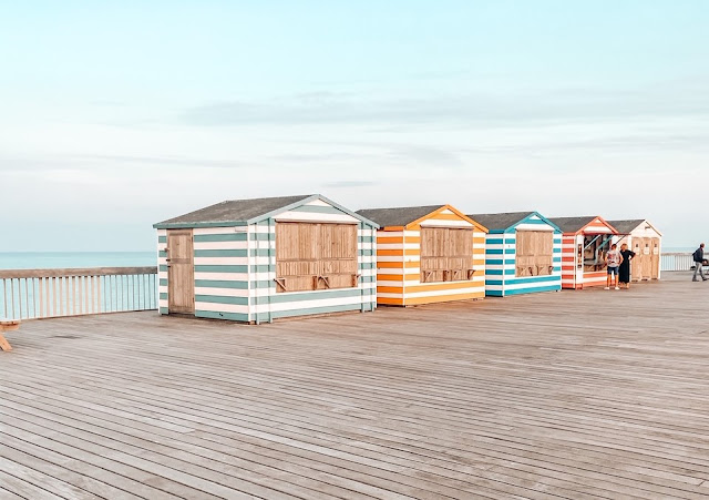 beach huts in Hastings