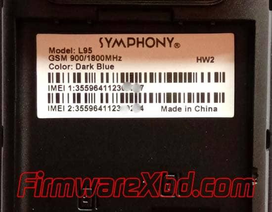 Symphony L95 HW2 Flash File Download 6531E Official Firmware
