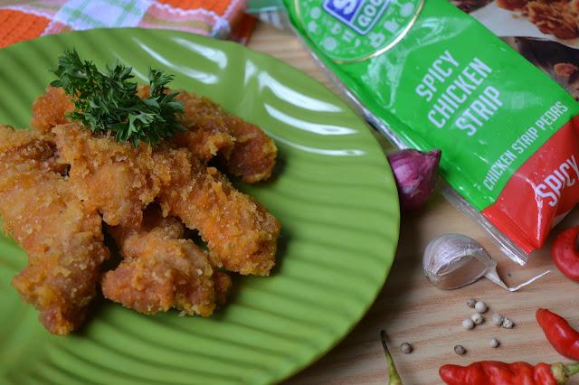 So Good Spicy Chicken Strip, Pedasnya Bikin Nagih
