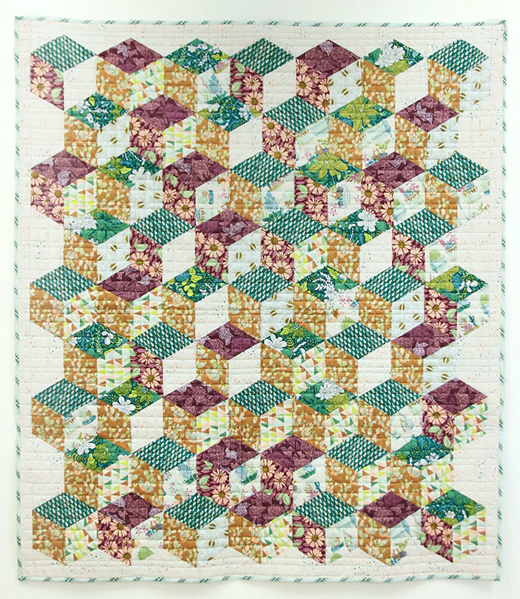 Terrarium Quilt designed by Bonnie Christine for Live art gallery fabrics, featuring Gathered Collection