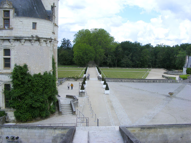 View from the balcony of the Chateau de Chenonceau during the Covid19 resrictions.  Indre et Loire, France. Photographed by Susan Walter. Tour the Loire Valley with a classic car and a private guide.