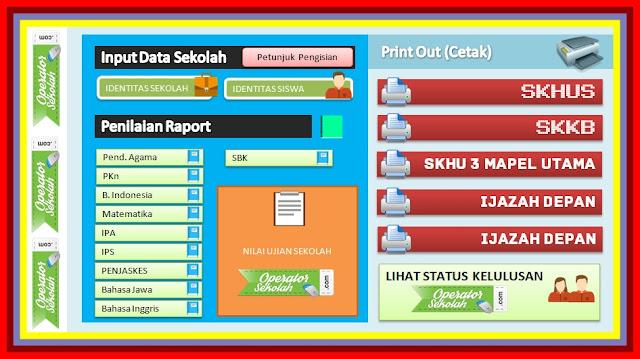 Aplikasi Cetak SKHUN Sementara Untuk SD SMP SMA Versi Terbaru