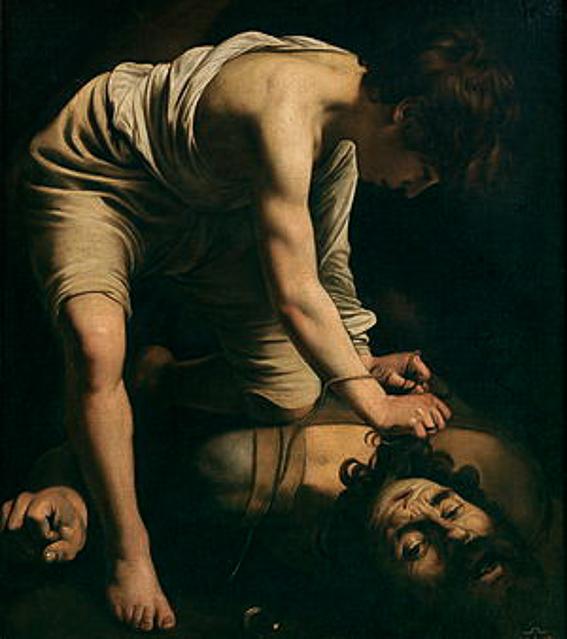 David vencedor de Goliat Caravaggio Museo del Prado