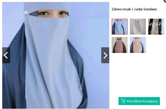 Zahwa Niqab @annisain_hijab - Shopee.co.id