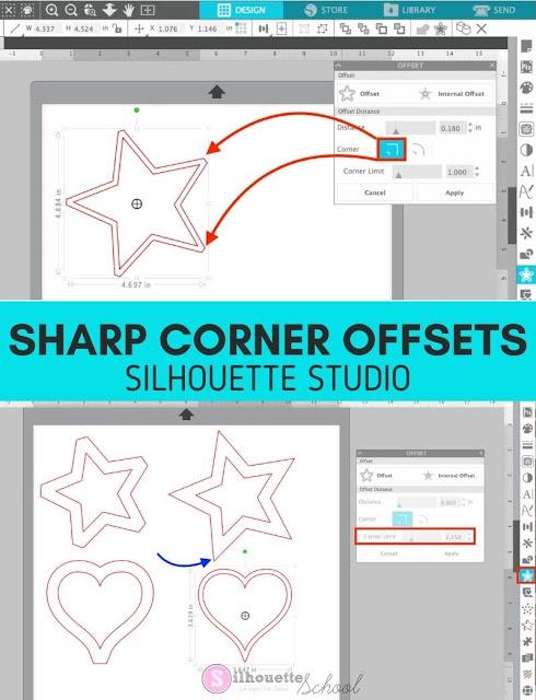 silhouette america blog, silhouette 101, offset tool, silhouette studio v4.4, silhouette studio