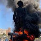 Preso em São Paulo suspeito de atear fogo à estátua de Borba Gato