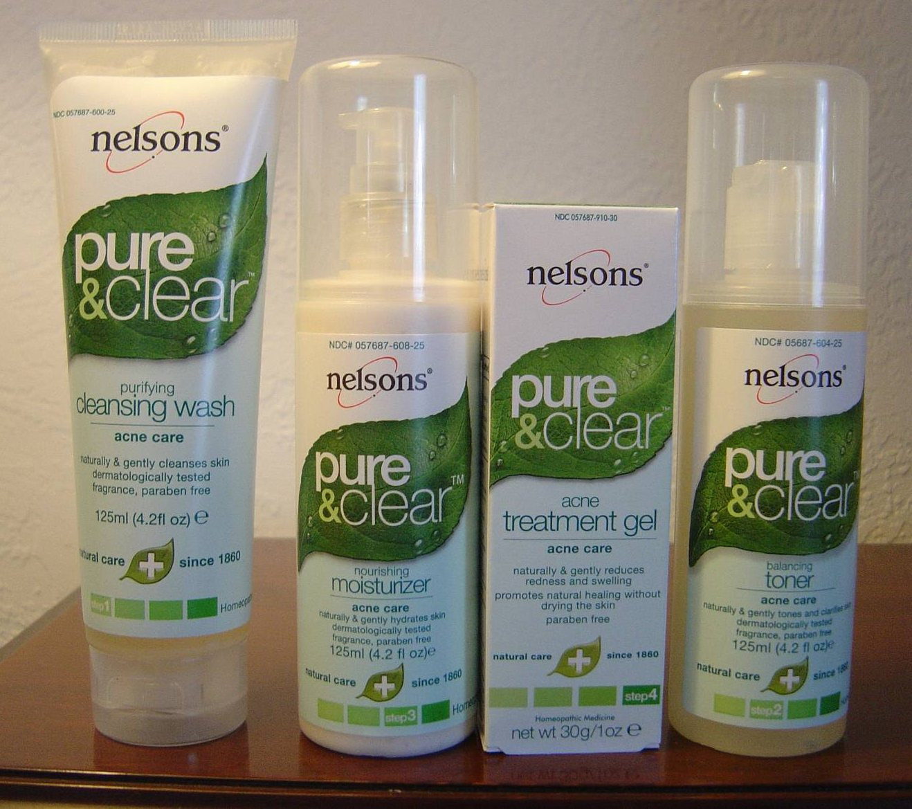 Nelsons' Pure & Clear Skin Care Line