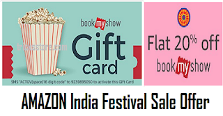 amzon india festival sale offer buy bookmyshow gift card voucher
