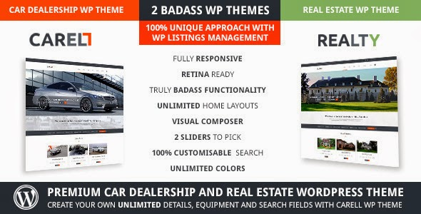 Real Estate AND Car Dealership Responsive WordPress Template