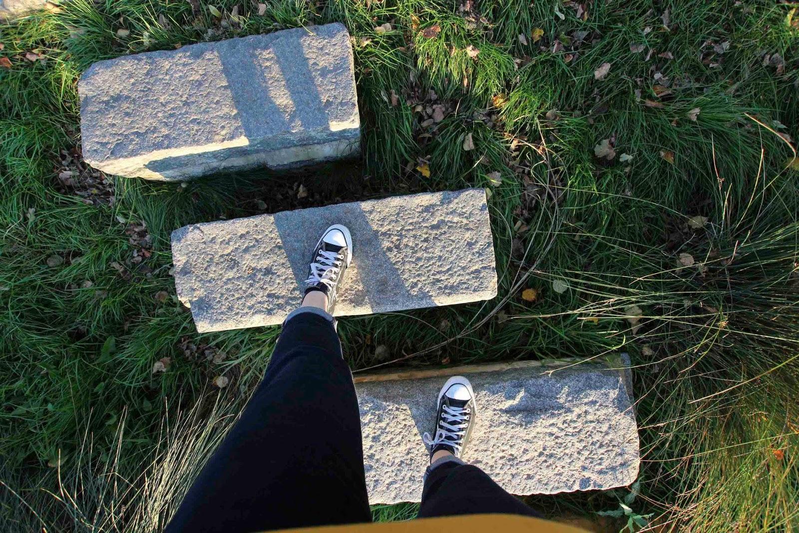 feet on rocks