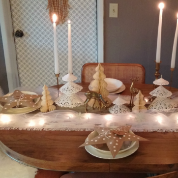 Winter White Holiday Table