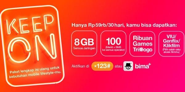 Paket Hemat Keep On Tri 8GB Hanya Rp 59 Ribu/30 Hari