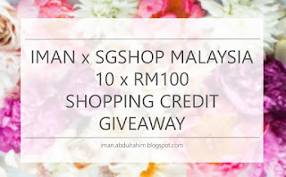 SGShop Malaysia 10xRM100 shopping credit giveaway by Iman Abdul Rahim
