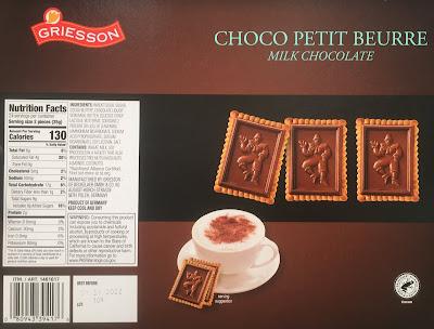 Costco 1461617 - Choco Petit Beaure Milk Chocolate Shortbread Cookies nutritional information