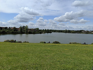 Our view from our Picnic spot at Furzton Lake