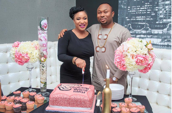 tonto dikeh returns to nigeria baby