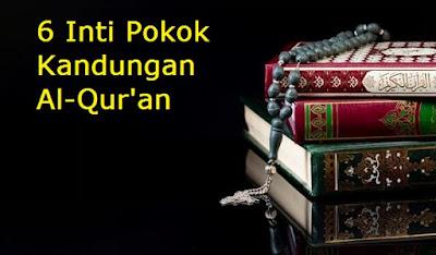 6 Inti Pokok  Kandungan Al-Qur'an Yang Perlu Kita Ketahui