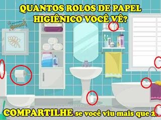 Desafio: Quantos rolos de papel higiênico você vê?