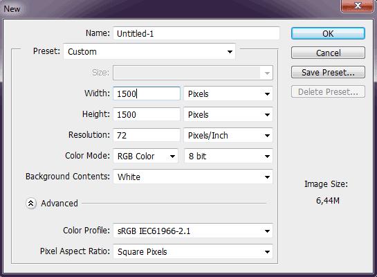 Create a new document.