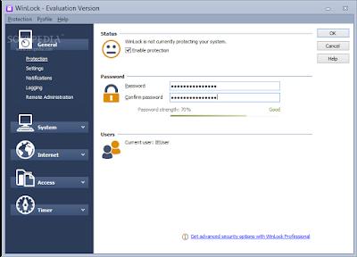 تحميل + شرح برنامج قفل البرامج والملفات بكلمة مرور WINLOCK 7.03