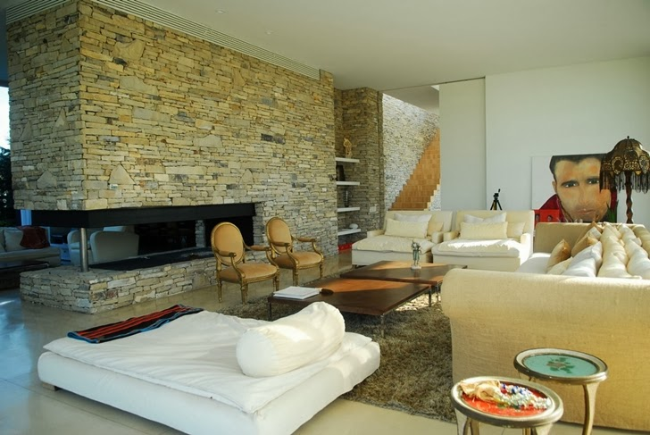 Living room in Modern Agua House by Barrionuevo Sierchuk Arquitectas