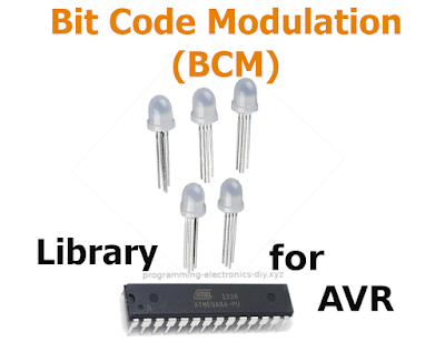 Bit Code Modulation (BCM) aka Bit Angle Modulation (BAM) library for RGB led dimming - 8-bit