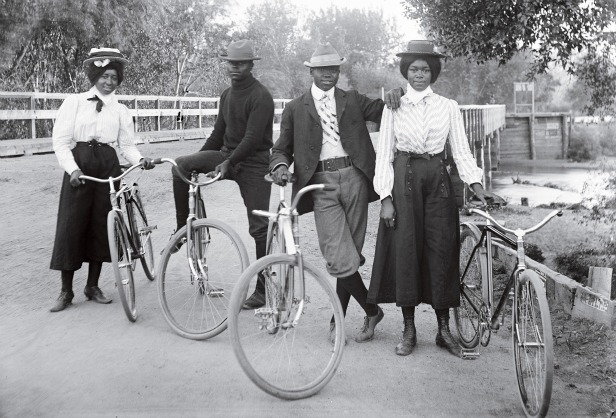 Victorian women liberated with new clothing and bicycles
