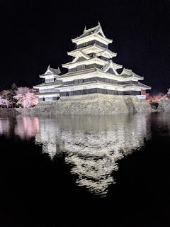 Things to do in Matsumoto in April: Visit Matsumoto Castle at night for Matsumoto-jo Sakura Matsuri