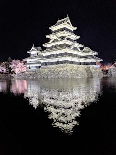 Things to do in Matsumoto in April: Visit Matsumoto Castle at night for Matsumoto-jo Sakura Matsuri