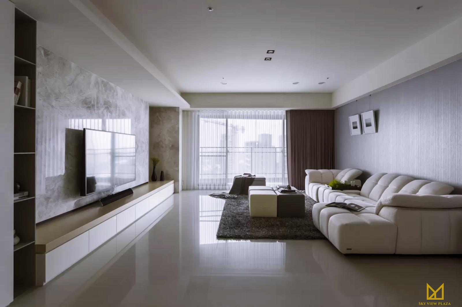 Phòng khách chung cư Sky View Plaza