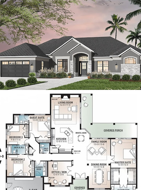 House Plan 4 Bedroom 3 5 Bathroom Garage Houseplans,Parallel Modular Kitchen Designs Photos