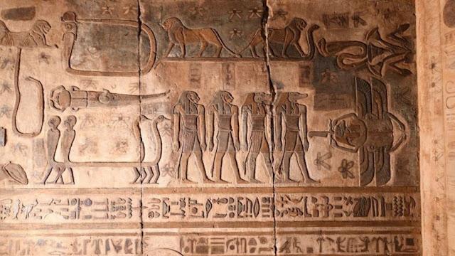 antigo templo do Egito
