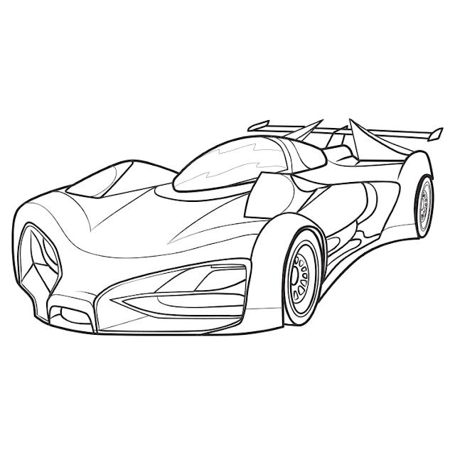 سيارة سباق للتلوين