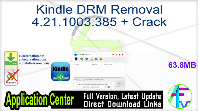 Kindle DRM Removal 4.21.1003.385 + Crack