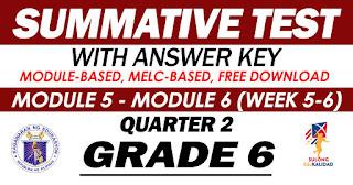 GRADE 6 Summative Test No. 3 (Quarter 2) Module 5-6