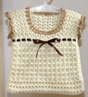 Primavera Crochet: Maglietta ad uncinetto per una bambina romantica