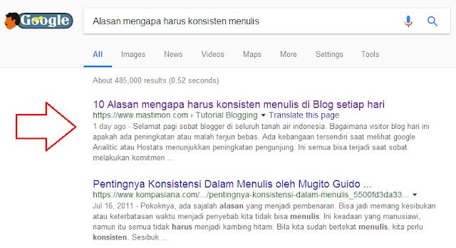 Solusi artikel Blog susah terdeteksi oleh Google