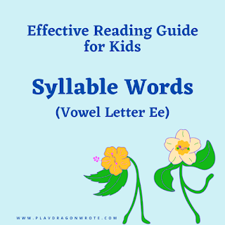 I Can Read! How to Read the Syllable Words with the Small Vowel Letter e - Effective Reading Guide for Kids