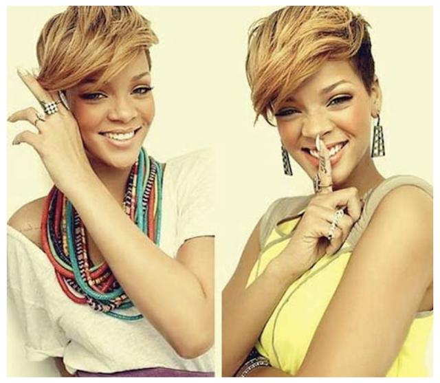 Rihanna short hair 2019