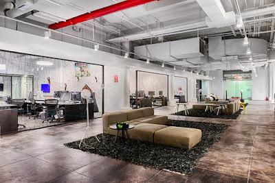 Decoración moderno de oficinas y despachos con obras de arte contemporáneas Gaudifond