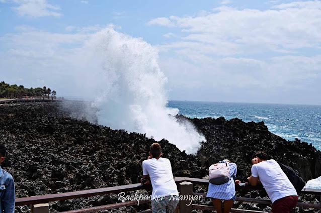 Hempasan ombak Water Blow Nusa Dua Bali