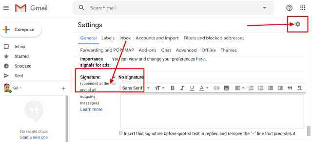 Gmail me permanent Signature Kaise Add Kare